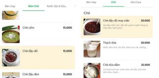Chè đậu đỏ xuất hiện trên các ứng dụng giao đồ ăn nhanh.
